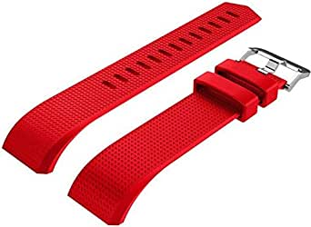 Replacement Bracelet Watch Band For Fitbit Charge 2,Large Size - Red