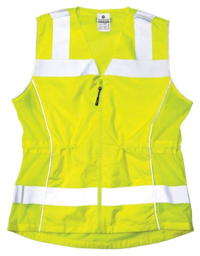 ML Kishigo 1521 Womens Fitted ANSI Class 2 High Visibility Safety Vest, Small