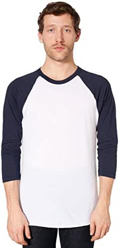 American Apparel BB453 - Unisex Poly-Cotton 3/4-Sleeve Raglan T-Shirt