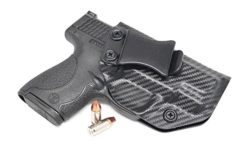 Concealment Express: Carbon Fiber Black IWB KYDEX Holster - Custom Fit - US Made - Inside Waistband Concealed Carry Holster - Adj. Cant/Retention (Best Owb Holster For Ruger Sr9c)