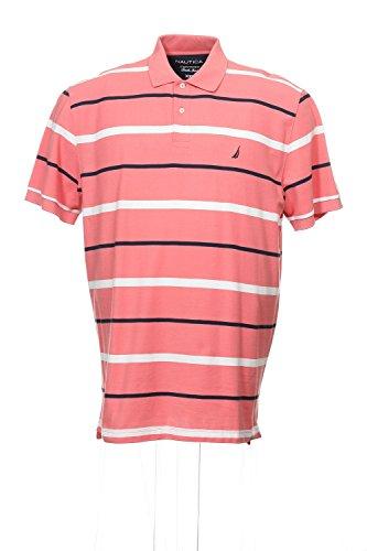 Nautica Men's Fashion Colors Stripe Deck Knit, Seaport Salmon, XX-Large