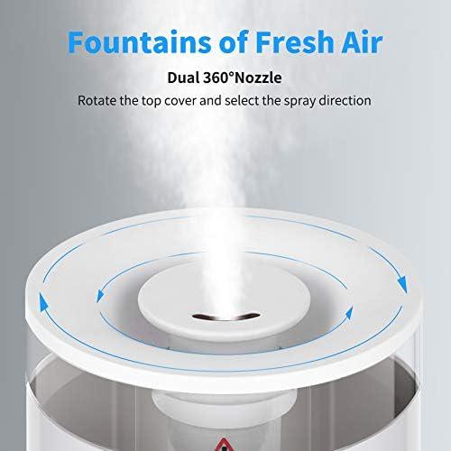 Humidificateur d'Air Bébé Maison Chambre 2.5L Humidificateur Ultrasonique Silencieux avec Fonction Aroma pour Chambre Bureau ELEHOT (Blanc)