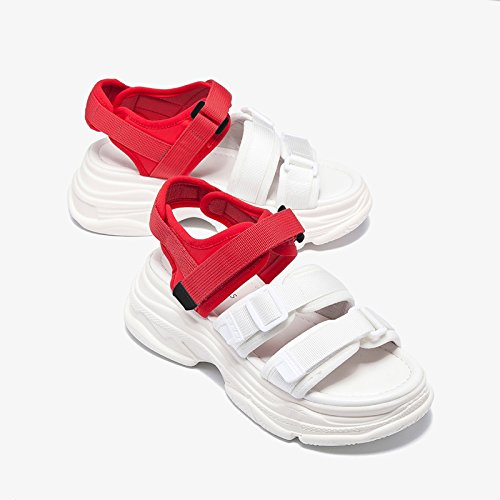 jp Femmes us 5 Jianxin uk Sandals Sandales Bas couleur 3 Épais Eu Taille Imperméable 36 Table Colorblocking Blanc 23cm 5 Sports Été Muffin Peep Toe 5 Casual R4rqWw4pX