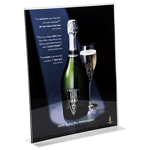 Clear-Ad - LHC-1114 - Double Sided Acrylic Upright Sign Holder 11x14 - Table Menu Card Display Stand - Plastic Picture Frame Wholesale (Pack of - Shapes Glasses Frame