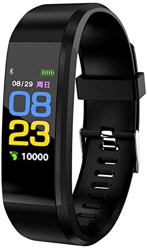 Smart Watch, Fitness Tracker with Body Temperature Thermometer Blood Oxygen Heart Rate Blood Pressure Monitor Sleep Monitor Step Counter Pedometer Calorie Counter (Black-2021)