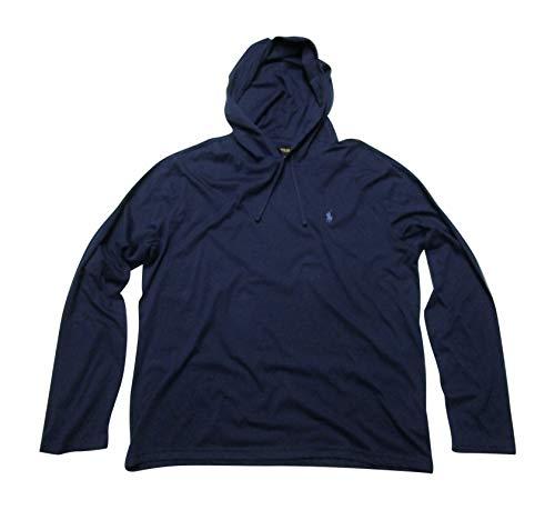 Polo Ralph Lauren Mens Jersey Knit Hoodie Tee (Newport Navy, ()