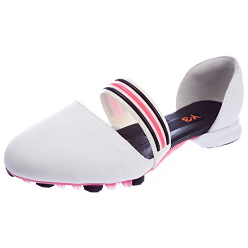 Y-3 by Yohji Yamamoto Women's Mary Jane Track & Field Training Shoes Size 9 White/Neon Pink