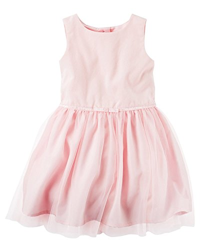 with amp; Velveteen Girls Carter's Belt Sleeveless Tulle Glitter Dress Pink wxvHqF