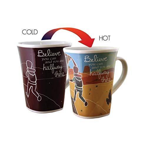 Color Changing Mug - Believe (Hiking) Story - Large 16 Ounce - Porcelain