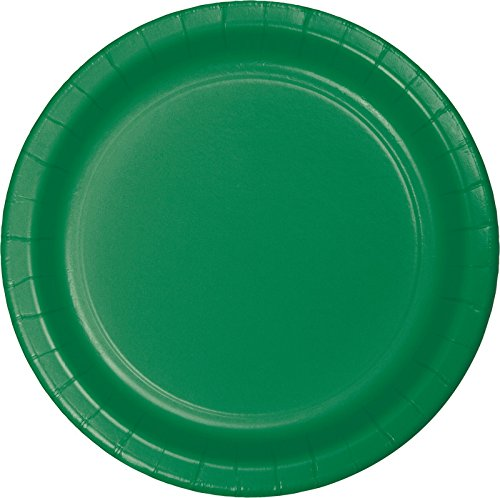 75-Count Value Pack Paper Dessert Plates, Emerald Green - Green Lunch Plates