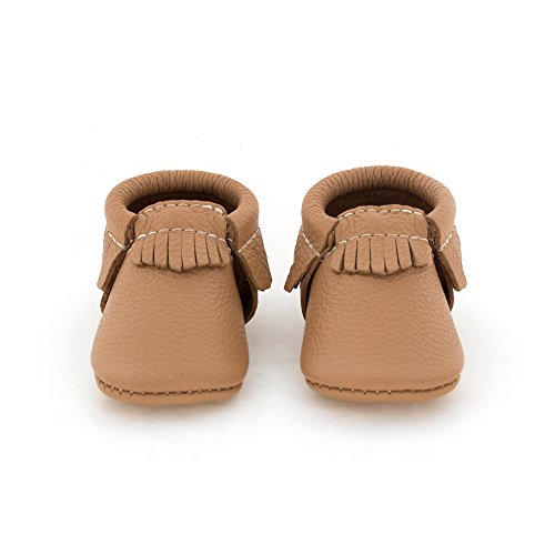 Freshly Picked Soft Sole Leather Baby Moccasins Butterscotch Size 3