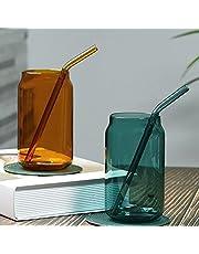 Highballglas drickande, vattensjuiceglas, premium höga tumlare med glasstrå, borosilikatisoleringsglasögon, högt barglas, dricksglas för vatten, juice, öl och cocktailgrön