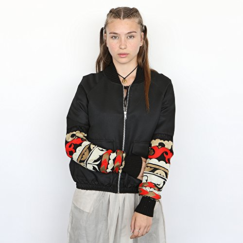 Embroidered Bomber Jacket, cropped EMB Jacket . by Naftul