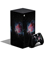 MightySkins Carbon Fiber Skin Compatible with Xbox Series X Bundle - Red Giant   Protective, Durable Textured Carbon Fiber Finish   Easy to Apply, Remove, and Change Styles   Made in The USA