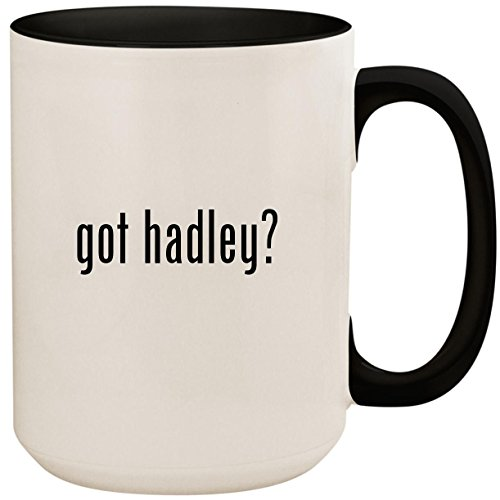 got hadley? - 15oz Ceramic Colored Inside and Handle Coffee Mug Cup, Black