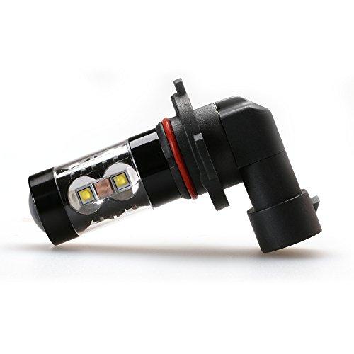 iDlumina H11 12V 24V 6500K Pure White LED Car Light Bulb 12X5W High Power for Fog Light (Pack of 2) - 12 Ss Light