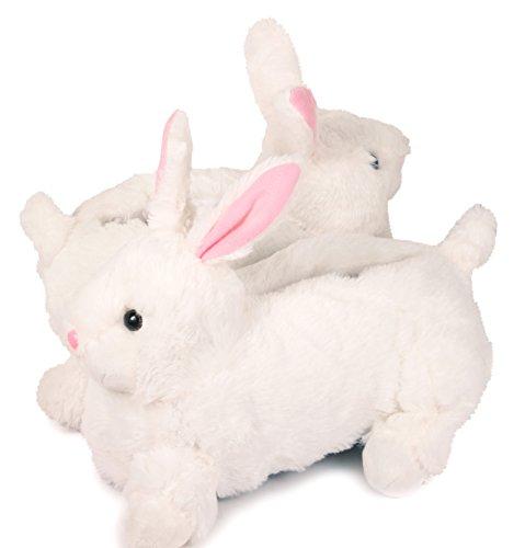 Lazy Paws Pantuflas De Tamaño Adulto Para Adultos - Tamaño Medium Only Bunny