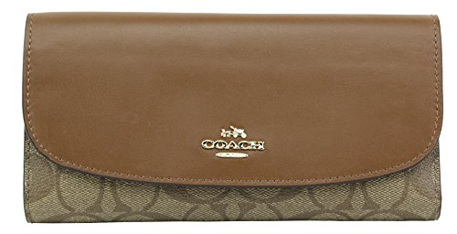 Coach Signature Leather Checkbook Wallet