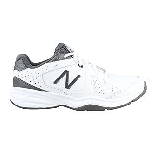 New Balance Men's mx409v3 Cross Trainers, White/Grey, 15 4E US