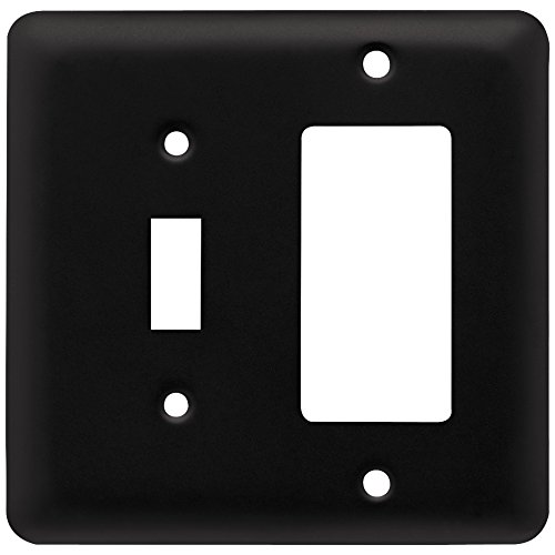 - Franklin Brass W10590-FB-C Stamped Round Toggle Single Switch/Decorator Wall Plate/Switch Plate/Cover, Flat Black