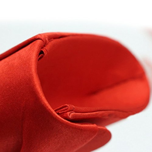 YYW Pleated Clutch Bag - Cartera de mano para mujer azul real
