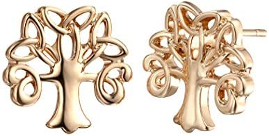 MIXIA Celtic Tree of Life Stud Earrings for Girls Women Fashion Jewelry Family Trees Charm Ladies Vintage Earrings