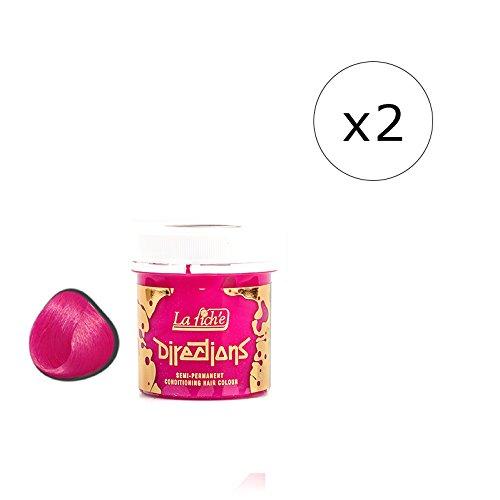 La Riche Directions Semi-Permanent Hair Colour Dye x2 Pack-Carnation Pink (dir)