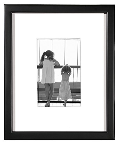 MCS 8x10 Inch Frame with 4x6 Inch Mat Opening, Black