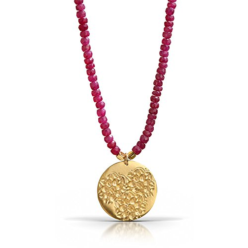 Flora Ruby Necklace - 18K Gold Vermeil