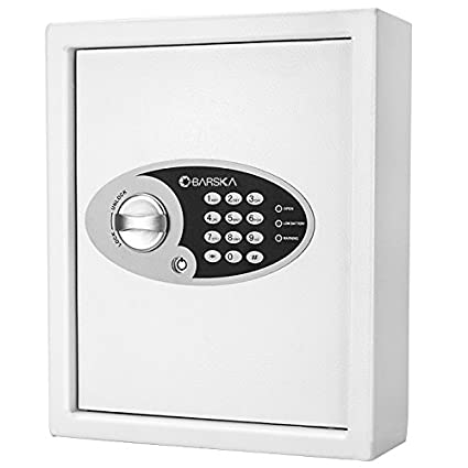 Amazon.com: Barska 48 Digital pared Key Safe, color blanco ...