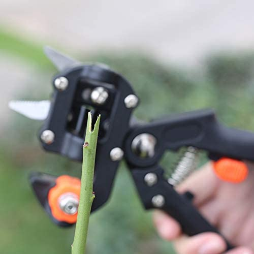 LXJ Fruit Tree Grafting Tool Pruning Grafting Machine Grafter,Multifunction Grafting Machine Garden Tools(Black)