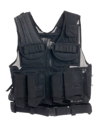 Ultimate Arms Gear Tactical Scenario Stealth Black Paintball Airsoft Battle Gear Tank - Armor Pod Vest