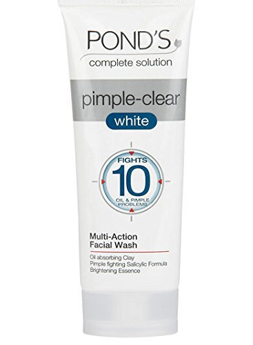 Buy Ponds Pimple Clear White Multi Action Facewash 100g Online At Low Prices In India Amazon In