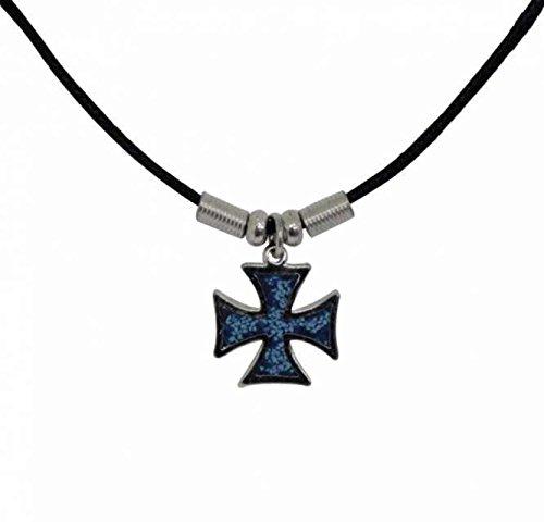 Punk Pendant Blue Little Cross Necklace
