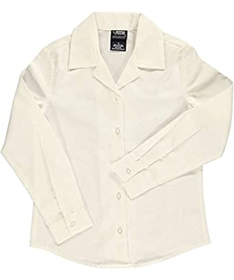 French Toast Big Girls L//S Notched Collar Blouse