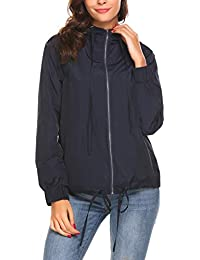 Women's Waterproof Lightweight Rain Jacket Active Outdoor...