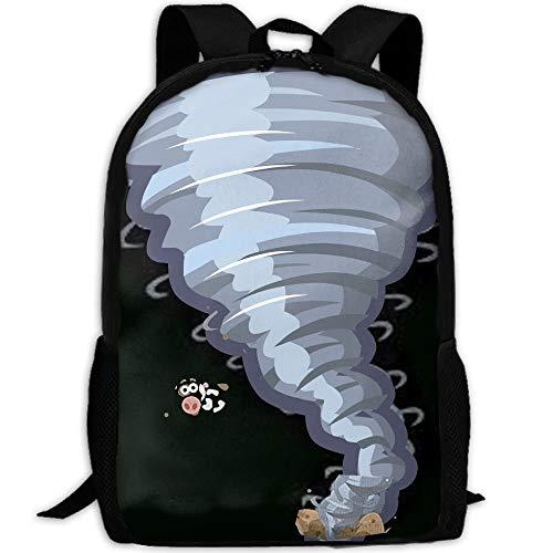 DKFDS Backpacks Beautiful-tornado-cartoons-clipart-cartoon-tornado-animation-tornado-cartoons.jpg School Bag Canvas Book Bag School Backpacks With Pen Bag for boys -