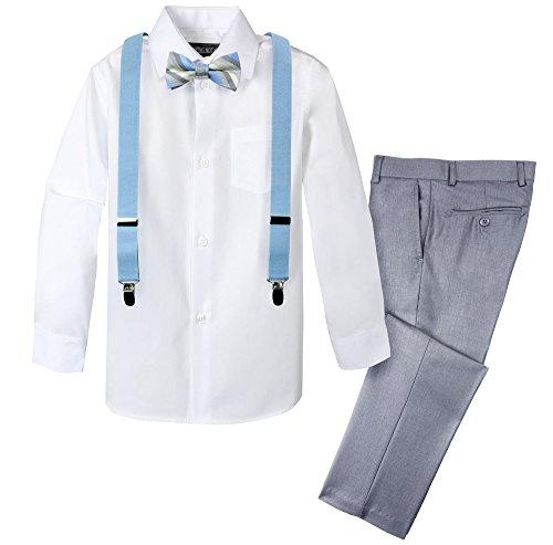 Spring Notion Boys' 4-Piece Dress up Pants Set 10