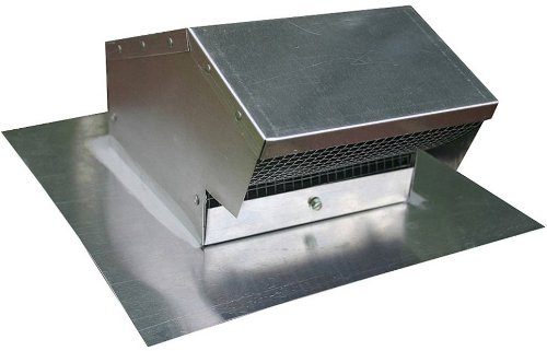 Roof Aluminum Cap Duct (Speedi-Products EX-RCAF 04 4-Inch Diameter Aluminum Roof Cap Flush)