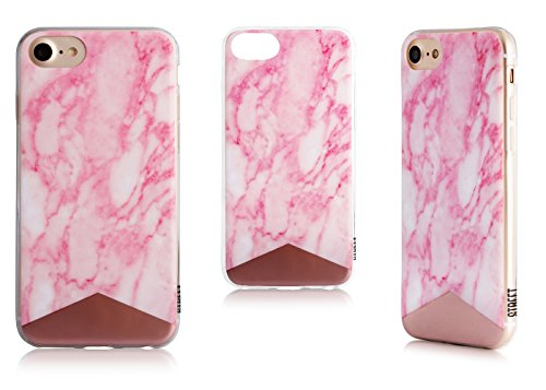 Uunique - Street Marble - Silicone Case - Apple iPhone 6, 6s, 7 - Pink