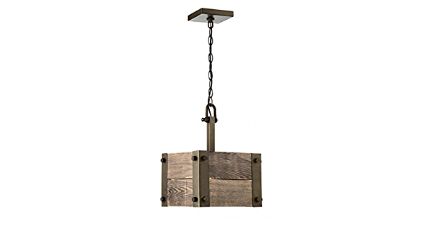 Winchester 1 Light Mini Pendant With Aged Wood Set Of 1