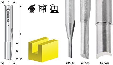 Amana Tool 43504 Solid Carbide Single O Flute Plastic Cutting 3//16 Dia x 5//8 x 1//4 Inc