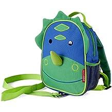 Skip Hop Zoo Little Kid and Toddler Safety Harness Backpack, Dakota Dinosaur