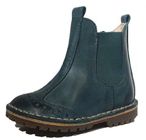 Petasil Leder Stiefel Budapester Style petrol grün