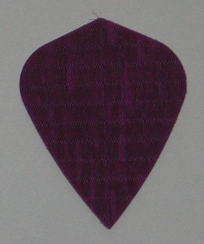 US Darts - 3 Sets (9 Flights) Purple Nylon Kite Dart Flights - Cloth, Fabric, -