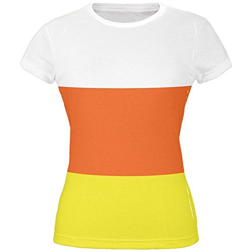 Halloween Candy Corn Costume All Over Juniors T-Shirt - Large]()