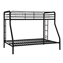 DHP Twin-Over-Full Bunk Bed, Black