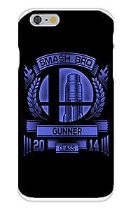 Apple iphone 5c Custom Case White Plastic Snap On - Smash Bro Gunner - Parody Design