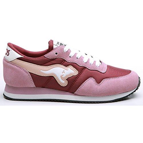 ies Invader Basic Sneakers (8.5 US) (Power/Maroon) (Kangaroos Leather Sneakers)