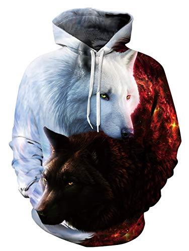 Freshhoodies Unisex Pullover Hoodie for Men Women Long Sleeve Drawstring Hooded Sweatshirts with Pockets S-XXL
